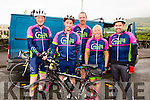 Taking part in the Valentia Dromid Cycle in aid of the Southern Gales on Sunday were l-r; Pádraig Murphy, Michael Keating , Brendan 'Cap' Murphy, Marion Kelly & Colm McGill.