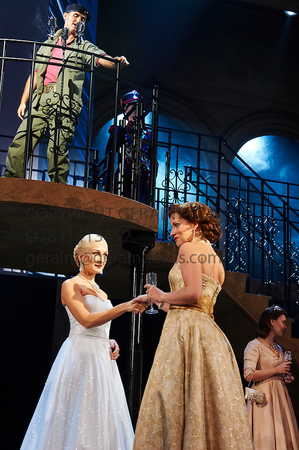 Evita . Music by Andrew Lloyd Webber, Lyrics by Tim Rice . With Matthew Cammelle as Peron, Madalena Alberto as Evita, Marti Pellow as Che. Opens at The Dominion Theatre on 22/9/14. CREDIT Geraint Lewis