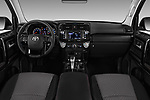 Stock photo of straight dashboard view of 2017 Toyota 4Runner Off-Road 5 Door SUV