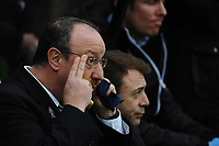 Newcastle United manager Rafa Benítez during Newcastle United vs Southampton, Premier League Football at St. James' Park on 10th March 2018