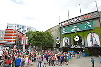 Portland, Oregon - Sunday May 29, 2016: Providence Park Exterior View. The Portland Thorns play the Seattle Reign during a regular season NWSL match at Providence Park.