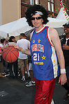 17 June 2006: An American fan dressed as a Harlem Globetrotter. Italy played the United States at Fritz-Walter Stadion in Kaiserslautern, Germany in match 25, a Group E first round game, of the 2006 FIFA World Cup.