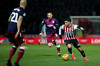Said Benrahma of Brentford in action during Brentford vs Aston Villa, Sky Bet EFL Championship Football at Griffin Park on 13th February 2019