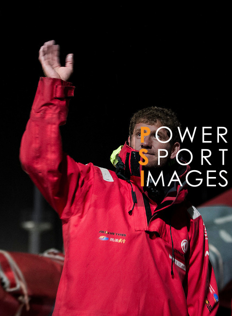 Dongfeng Race Team heading towards the Scheveningen Harbour for a 24-hours pit stop of the Volvo Ocean Race Leg 9 Lorient - Gothenburg on June 19, 2015 in The Hague, Netherlands. Photo by Victor Fraile / Power Sport Images