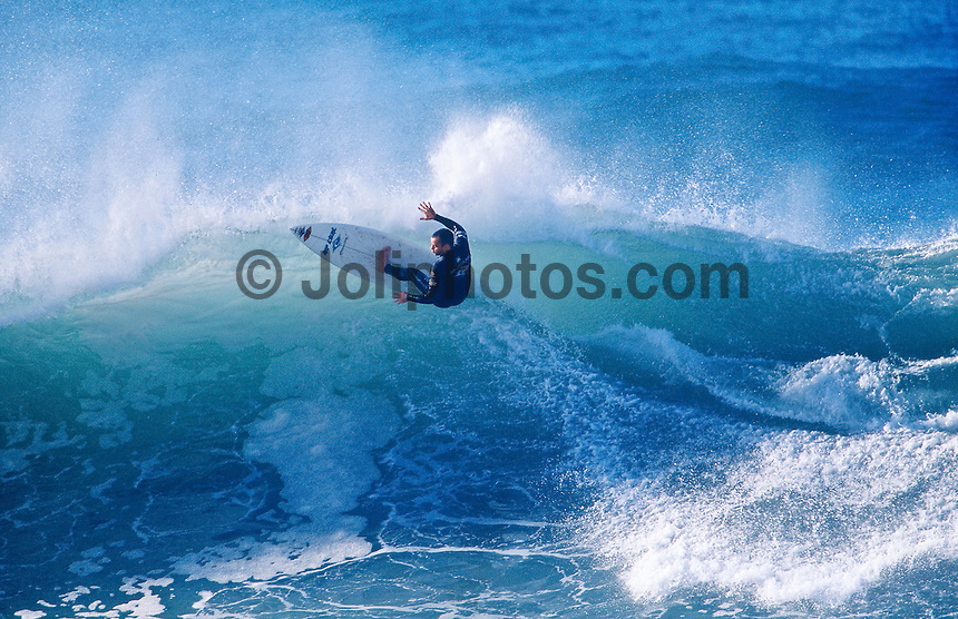 Tom Curren (USA) 3 times World Surfing Champion at the 1996 Rip Curl Pro at Bells Beach, Torquay, Victoria, Australia. Photo: joliphotos.com