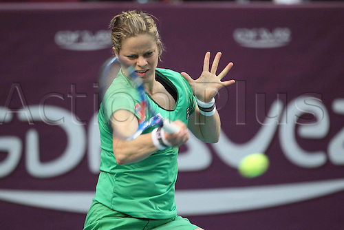 13.02.2011 Petra Kvitova of the Czech Republic stunned Kim Clijsters, 6-4, 6-3, in the final of the Open Gaz de France at Paris on Sunday to win the third title of her career.