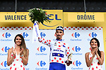 Julian Alaphilippe (FRA) Quick-Step Floors retains the climbers Polka Dot Jersey at the end of Stage 13 of the 2018 Tour de France running 169.5km from Bourg d'Oisans to Valence, France. 20th July 2018. <br /> Picture: ASO/Alex Broadway | Cyclefile<br /> All photos usage must carry mandatory copyright credit (&copy; Cyclefile | ASO/Alex Broadway)