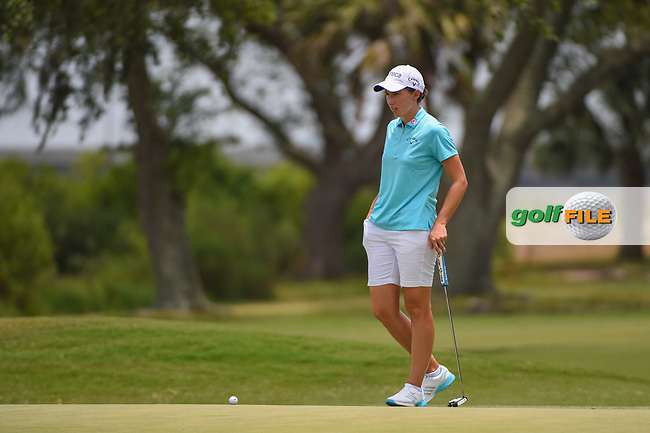 Carlota Ciganda (ESP) looks over her putt on 10 during round 2 of the 2019 US Women's Open, Charleston Country Club, Charleston, South Carolina,  USA. 5/31/2019.<br /> Picture: Golffile | Ken Murray<br /> <br /> All photo usage must carry mandatory copyright credit (© Golffile | Ken Murray)