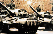 "United States Department of Defense released its 1985 assessment of Soviet Military Power at the Pentagon in Washington, DC on April 2, 1985.  The release stated ""The 50 tank divisions of the USSR's ground forces include growing numbersof modern main battle tanks such as the T-72, seen here, the T-64, and the T-80.""<br /> Credit: Department of Defense via CNP"