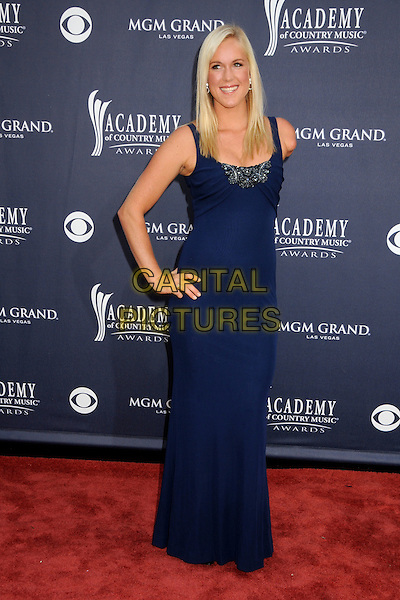 BETHANY HAMILTON .46th Annual Academy of Country Music Awards - Arrivals held at the MGM Grand Garden Arena, Las Vegas, Nevada, USA, 3rd April 2011..full length blue navy long maxi dress hand on hip .CAP/ADM/BP.©Byron Purvis/AdMedia/Capital Pictures.