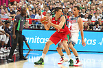 06.09.2014. Barcelona, Spain. 2014 FIBA Basketball World Cup, round of 16. Picture show R. Martinez and S. Curry  in action during game between  Mexico v Usa  at Palau St. Jordi