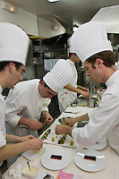 Europe/France/2B/Haute Corse/Calvi: En cuisineau  restaurant: L'Alivu de l'Hotel La Villa,