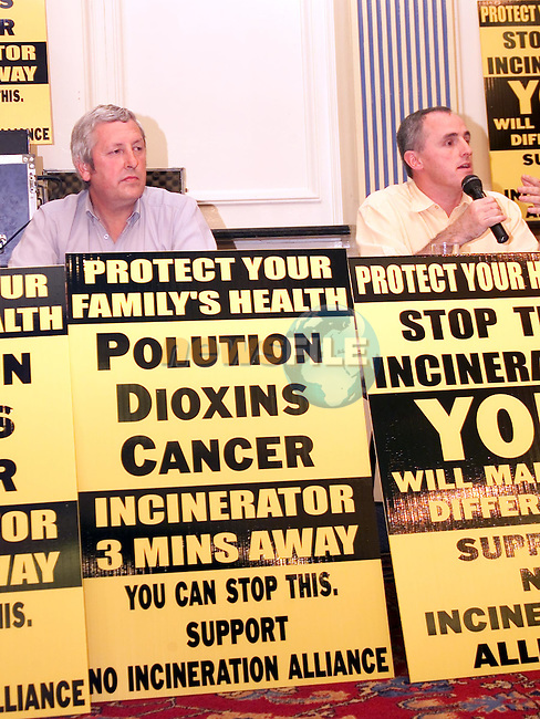 Pa O'Brien and Michael McKeown at the Incineration meeting in the Europa Hotel..Picture: Paul Mohan/Newsfile