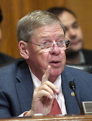 """United States Senator Johnny Isakson (Republican of Georgia) questions a witness during a US Senate Committee on Finance hearing on """"Individual Tax Reform"""" on Capitol Hill in Washington, DC on Thursday, September 14, 2017.<br /> Credit: Ron Sachs / CNP"""