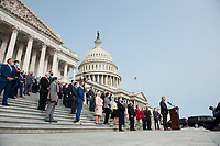 """United States House Minority Leader Kevin McCarthy (Republican of California), offers remarks during a press conference regarding the """"Commitment to America: to restore our way of life, rebuild the greatest economy, and renew the American dream"""" on the House Steps at the US Capitol in Washington, DC., Tuesday, September 15, 2020. <br /> Credit: Rod Lamkey / CNP /MediaPunch"""