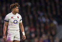 Englands' Anthony Watson<br /> <br /> Photographer Bob Bradford/CameraSport<br /> <br /> NatWest Six Nations Championship - England v Wales - Saturday 10th February 2018 - Twickenham Stadium - London<br /> <br /> World Copyright &copy; 2018 CameraSport. All rights reserved. 43 Linden Ave. Countesthorpe. Leicester. England. LE8 5PG - Tel: +44 (0) 116 277 4147 - admin@camerasport.com - www.camerasport.com