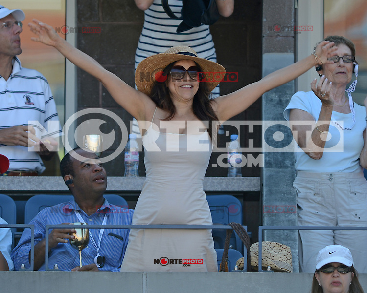 August 29, 2012: Rosie Perez is sighted watching the Isner Vs Malisse match at Arthur Ashe stadium at the USTA Billie Jean King National Tennis Center in New York City. ..&copy; mpi04 / Mediapunchinc /NortePhoto.com<br />