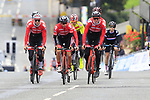Team Austria takes advantage of free practice on the Harrogate Circuit before the Men Elite Individual Time Trial of the UCI World Championships 2019 running 54km from Northallerton to Harrogate, England. 25th September 2019.<br /> Picture: Eoin Clarke | Cyclefile<br /> <br /> All photos usage must carry mandatory copyright credit (© Cyclefile | Eoin Clarke)