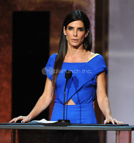 HOLLYWOOD, CA - JUNE 5: Sandra Bullock onstage at the 2014 AFI Life Achievement Award: A Tribute to Jane Fonda at the Dolby Theatre on June 5, 2014 in Hollywood, California.MPIMicelotta/MediaPunch
