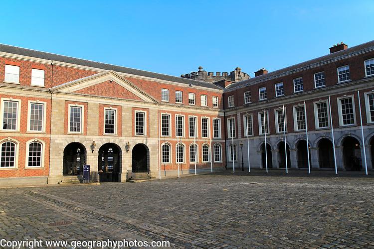 Courtyard buildings Dublin Castle, city of Dublin, Ireland, Irish Republic