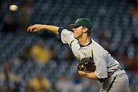 Starting pitcher Kendal Volz #15 of the Baylor Bears in action versus the UCLA Bruins in the 2009 Houston College Classic at Minute Maid Park February 28, 2009 in Houston, TX.  The Bears defeated the Bruins 5-1. (Photo by Brian Westerholt / Four Seam Images)