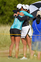Maria Fassi (MEX) hugs a friend near the tee on 10 before  round 4 of the Volunteers of America Texas Classic, the Old American Golf Club, The Colony, Texas, USA. 10/6/2019.<br /> Picture: Golffile | Ken Murray<br /> <br /> <br /> All photo usage must carry mandatory copyright credit (© Golffile | Ken Murray)