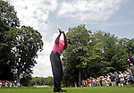 30 July 2009: Tiger Woods drives off the eighth tee in round one of the Buick Open PGA Tour golf tournament, at Warwick Hills Golf & Country Club, in Grand Blanc, MI...***** Editorial Use Only *****