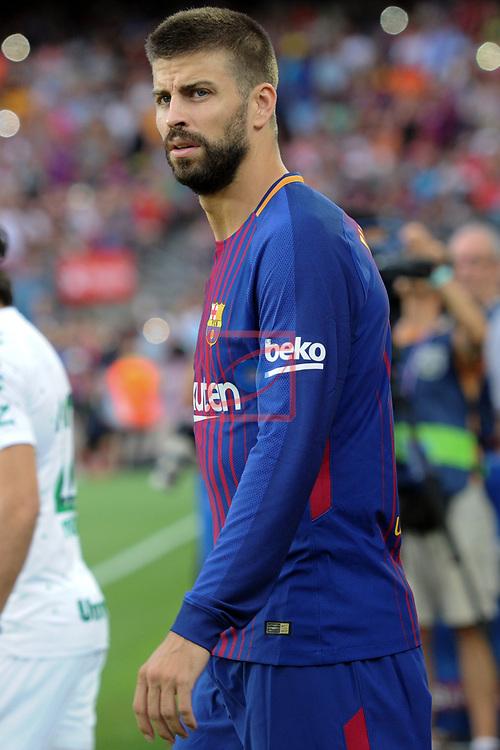52e Trofeu Joan Gamper.<br /> FC Barcelona vs Chapecoense: 5-0.<br /> Gerard Pique.