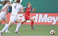 Portland, OR - Wednesday June 28, 2017: Ashleigh Sykes during a regular season National Women's Soccer League (NWSL) match between the Portland Thorns FC and FC Kansas City at Providence Park.