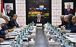 Palestinian Prime Minister Mohammad Ishtayeh, charis the weekly meeting of his government, in the West Bank city of Ramallah, on January 06, 2020. Photo by Prime Minister Office