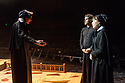 """London, UK. 06.09.2017. """"Doubt - a Parable"""", written by John Patrick Shanley and directed by Che Walker, opens at Southwark Playhouse. Picture shows: Stella Gonet (Sister Aloysius), Jonathan Chambers (Father Brendan Flynn), Clare Latham (Sister James). Photograph © Jane Hobson."""