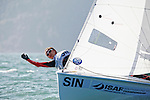 Singapore	420	Women	Crew	SINCT3	Cheryl	Teo<br /> Singapore	420	Women	Helm	SINEY2	Elisa	Yokoyama<br /> Day2, 2015 Youth Sailing World Championships,<br /> Langkawi, Malaysia