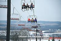 63885-00315 Skiiers on lift at Chestnut Mountain Resort Galena   IL
