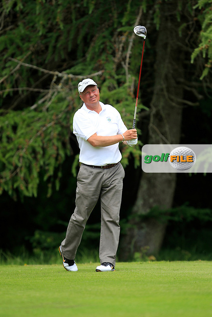 Dale Baker (Downpatrick) on the 8th tee during Round 1 of the Leinster Seniors Amateur Open Championship at Enniscorthy Golf Club on Tuesday 23rd June 2015.<br />
