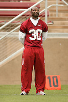 21 April 2007: Dorrick Roy during the Alumni's 38-33 victory over the coaching staff during a flag football exhibition at Stanford Stadium in Stanford, CA.