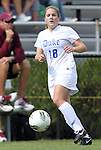02 October 2011: Duke's Maddy Haller. The Duke University Blue Devils defeated the Virginia Tech Hokies 1-0 at Koskinen Stadium in Durham, North Carolina in an NCAA Division I Women's Soccer game.