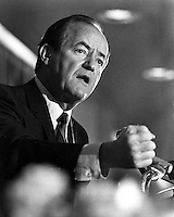 Former Vice-President Hubert Humphrey speaking in San Francisco in 1968. (photo/Ron Riesterer)