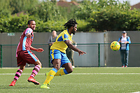 Chidubem Onokwai brings down the ball to score the opening goal during Haringey Borough vs Corinthian Casuals, BetVictor League Premier Division Football at Coles Park Stadium on 10th August 2019