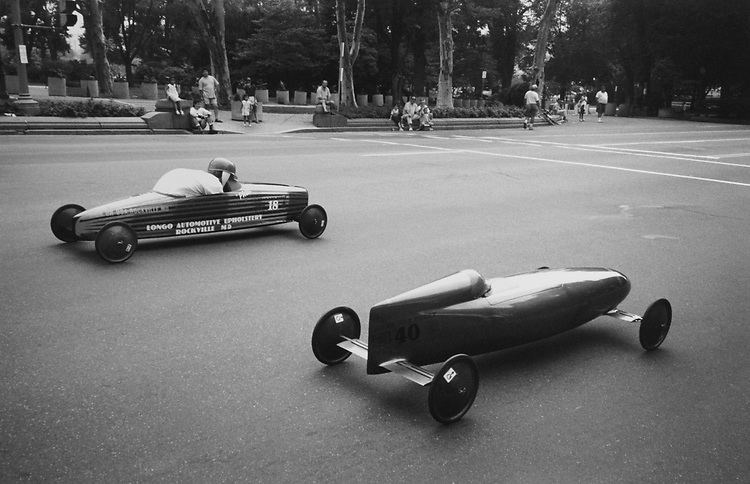Soap Box Derby at Constitution Avenue/Senate side in July 1994. (Photo by Laura Patterson/CQ Roll Call via Getty Images)