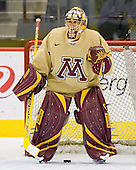 Brent Solei (Minnesota 35) takes part in the Gophers' morning skate at the Xcel Energy Center in St. Paul, Minnesota, on Friday, October 12, 2007, during the Ice Breaker Invitational.