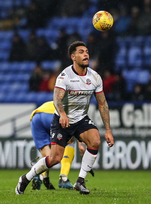 Bolton Wanderers' Josh Magennis <br /> <br /> Photographer Andrew Kearns/CameraSport<br /> <br /> The EFL Sky Bet Championship - Bolton Wanderers v Leeds United - Saturday 15th December 2018 - University of Bolton Stadium - Bolton<br /> <br /> World Copyright © 2018 CameraSport. All rights reserved. 43 Linden Ave. Countesthorpe. Leicester. England. LE8 5PG - Tel: +44 (0) 116 277 4147 - admin@camerasport.com - www.camerasport.com