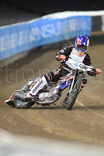 27th October 2017, Etihad Stadium, Melbourne, Australia; QBE Insurance Australian FIM Speedway Grand Prix, Practice Session; Sam Masters of Australia rides during practice