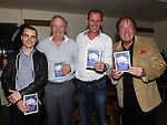 Mindaugas Sarosas, David Tiernan, Keith Irwin and frank Godfrey pictured at the launch of the Strictly Come Dancing DVD at the Rugby Club. Photo: Colin Bell/pressphotos.ie