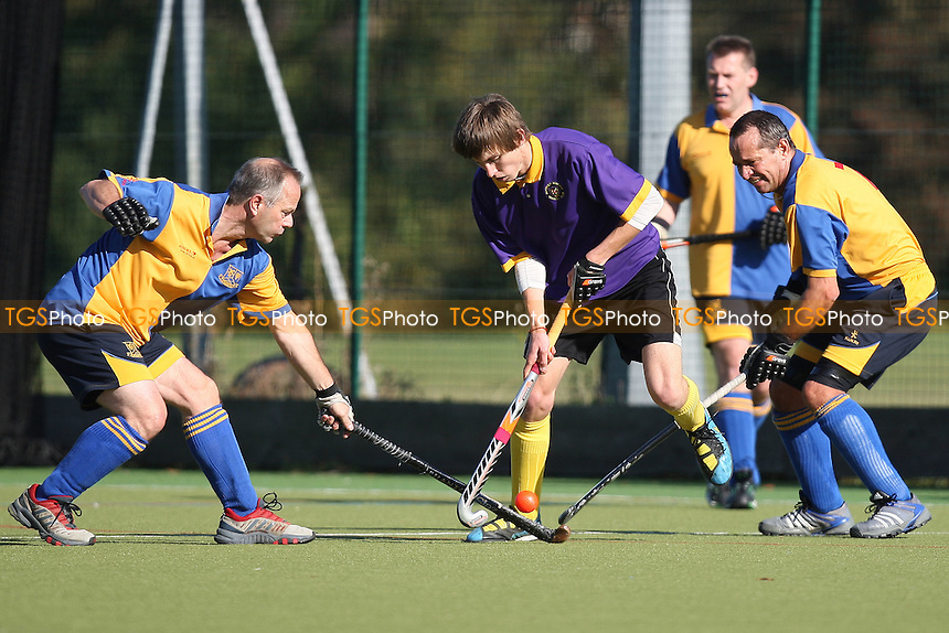 Upminster HC 4th XI (yellow/blue) vs Saffron Walden HC 4th XI - Essex Hockey League - 15/10/11 - MANDATORY CREDIT: Gavin Ellis/TGSPHOTO - Self billing applies where appropriate - 0845 094 6026 - contact@tgsphoto.co.uk - NO UNPAID USE.