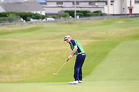 Eanna Griffin (Waterford)) on the 1st during the Quarter Finals of The South of Ireland in Lahinch Golf Club on Tuesday 29th July 2014.<br /> Picture:  Thos Caffrey / www.golffile.ie