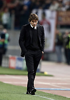 Football Soccer: UEFA Champions League AS Roma vs Chelsea Stadio Olimpico Rome, Italy, October 31, 2017. <br /> Chelsea's coach Antonio Conte during the Uefa Champions League football soccer match between AS Roma and Chelsea at Rome's Olympic stadium, October 31, 2017.<br /> UPDATE IMAGES PRESS/Isabella Bonotto