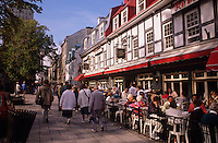 Sidewalk Cafe Rue Saint-Louis. Quebec City.