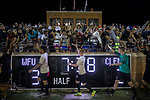 Wake Forest Demon Deacons players high five fans following their double-overtime win versus the Clemson Tigers at Spry Soccer Stadium on September 29, 2017 in Winston-Salem, North Carolina.  The Demon Deacons defeated the Tigers 3-2 in 2OT.  (Brian Westerholt/Sports On Film)