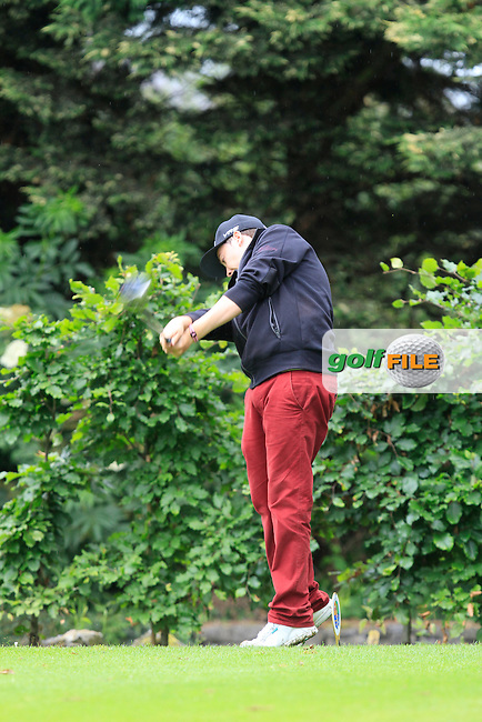 John Corbett Jnr (Thurles) on the 18th tee during Round 3 of the Irish Boys Amateur Open Championship at Thurles Golf Club on Thursday 26th June 2014.<br /> Picture:  Thos Caffrey / www.golffile.ie