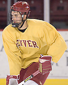 Jon James - Reigning national champions (2004 and 2005) University of Denver Pioneers practice on Friday morning, December 30, 2005 before hosting the Denver Cup at Magness Arena in Denver, CO.